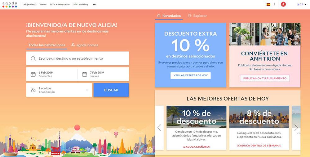 reserva online de viajes en agoda.com