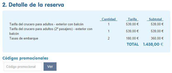Código promocional BuscoCrucero.com