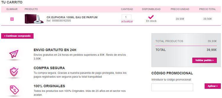 Código promocional Perfumería VIP