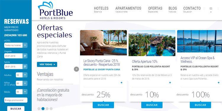 Cupón promocional PortBlue Hotels