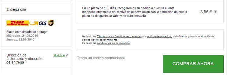 Código promocional RecambiosCoches.es