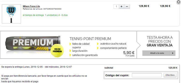 Cupón descuento Tennis-Point