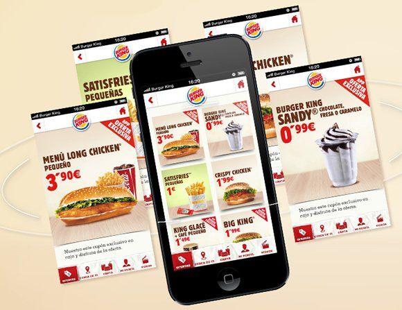 Cupones de Burger King en el móvil