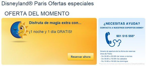 Ofertas especiales en Disneyland Paris