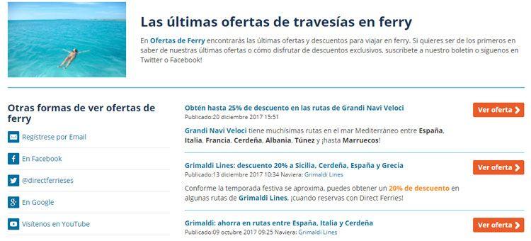 Ofertas Direct Ferries