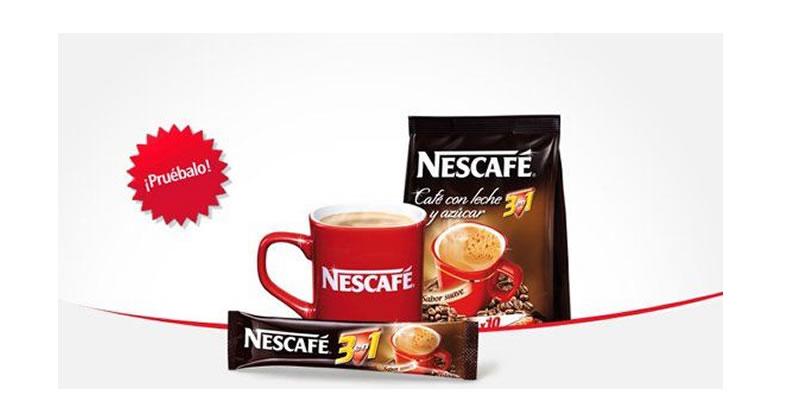 Muestras gratis de Nescafé 3 en 1
