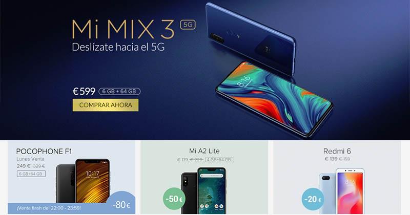 Ofertas y códigos descuento smartphones Xiaomi
